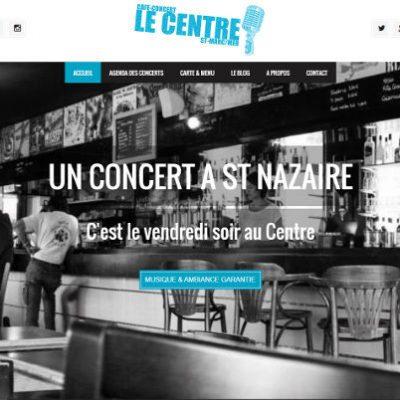 Nouveau site internet du café concert le centre
