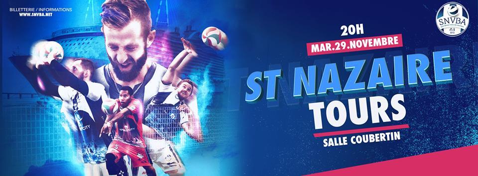Logo SNVBA pour le match à Saint Nazaire