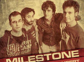 Membres du groupe Milestone qui jouent au Centre à Saint Nazaire.