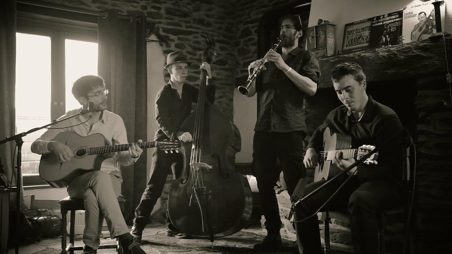 Musiciens de Django's not Dead au Centre en septembre 2017