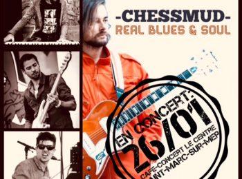 Logo de ChessMud en concert au café-concert Le Centre à Saint Nazaire