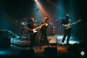Membres du groupe sur scène de Vertical, en concert vendredi 7 septembre 2018 au café-concert Le Centre à Saint Nazaire