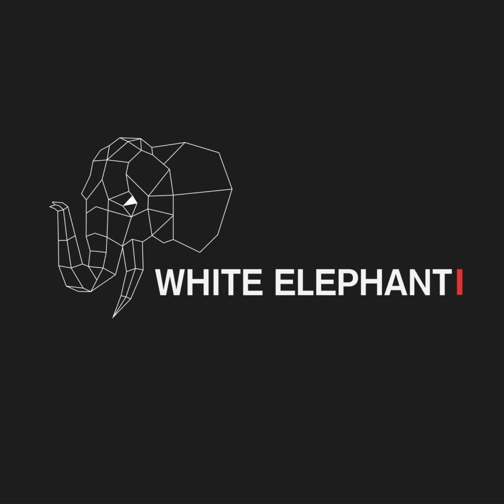 Logo du groupe 'White Elephant', trip rock au café Le Centre à Saint-Nazaire