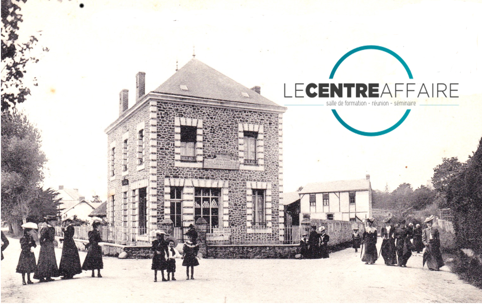 Vieux bâtiments café-concert Le Centre à Saint Nazaire