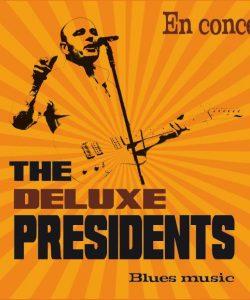 Le groupe de Chicago blues 'The Deluxe Presidents', en concert au café Le Centre à Saint-Marc-sur-Mer