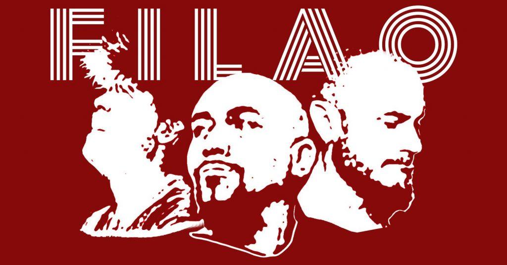 Le power trio 'Filao', du rock puissant sur la scène du café restaurant Le Centre à Saint Nazaire.